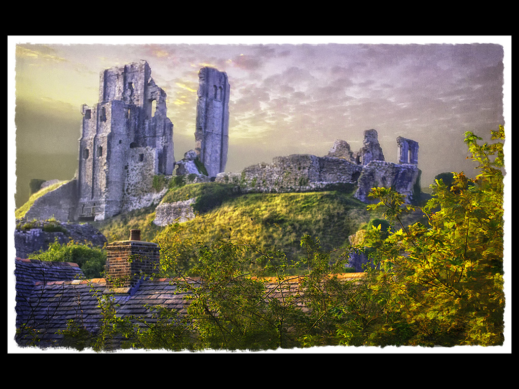 AN AURA OF MYSTICAL LIGHT AT CORFE by John Young
