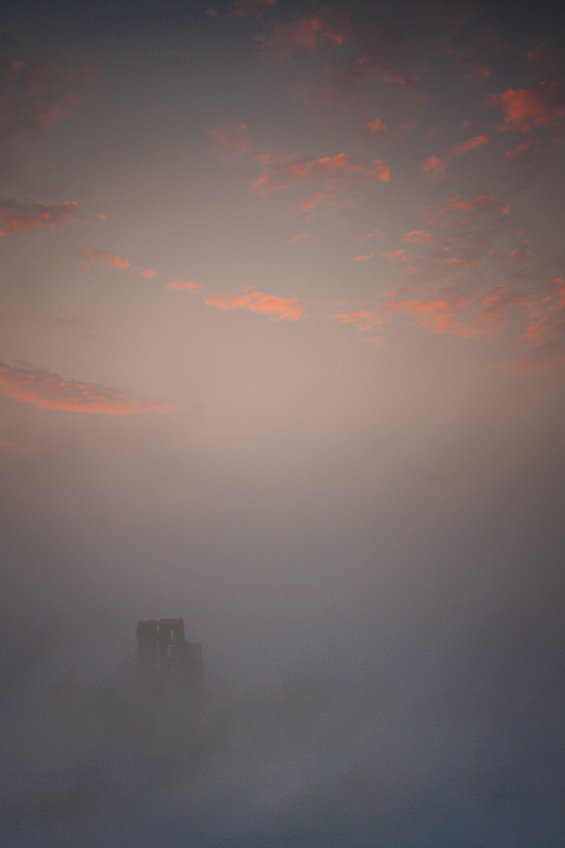 CORFE CASTLE IN THE MIST by Ben Rawson