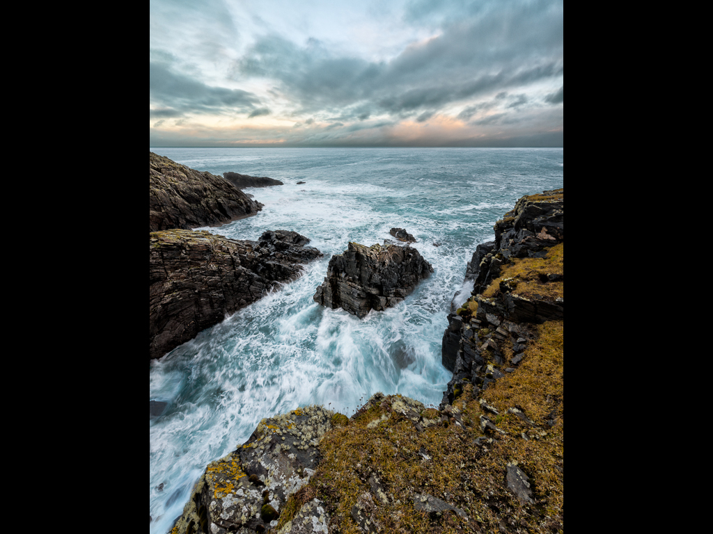 SUNSET SWELL, BUTT OF LEWIS by Chris Newham
