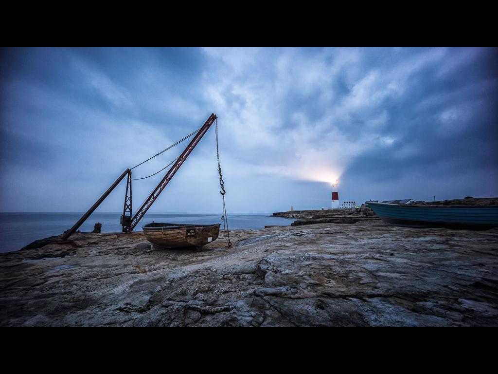 PORTLAND BILL BLUE HOUR by Chris Newham