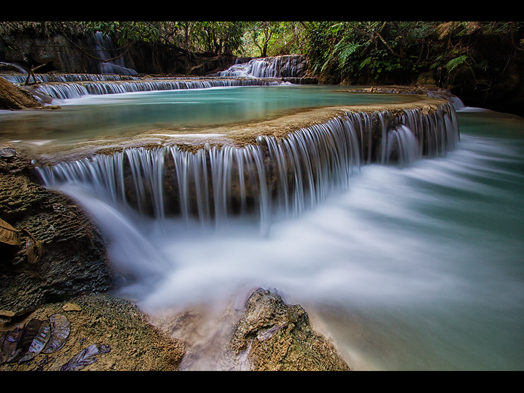 TAD KHONGSI WATERFALL by Lester Woodward