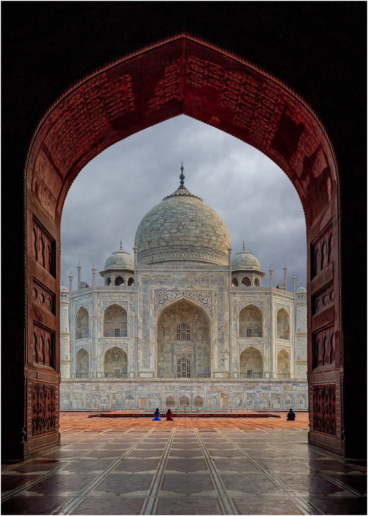 TAJ MAHAL FROM MOSQUE by Jack Worsnop