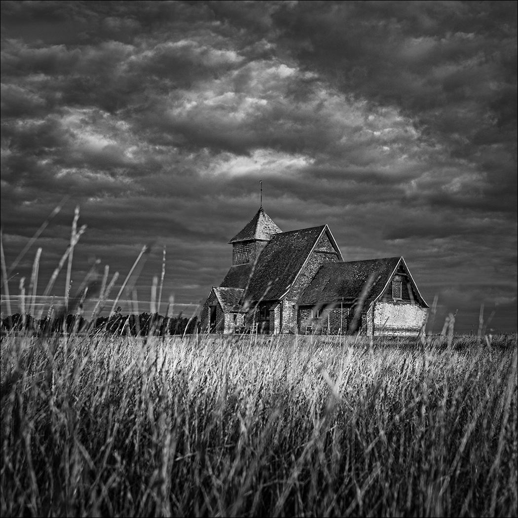 LONE CHURCH ON THE MARSH by Malcolm Nabarro